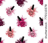 manicure vector seamless... | Shutterstock .eps vector #770110378