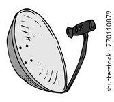 satellite dish. vector...   Shutterstock .eps vector #770110879