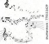 music notes abstract | Shutterstock .eps vector #770111629
