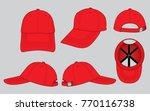 red baseball cap for template | Shutterstock .eps vector #770116738