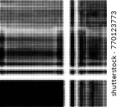 grunge halftone black and white ... | Shutterstock .eps vector #770123773