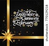 december january february... | Shutterstock .eps vector #770129218