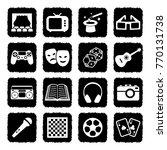 entertainment icons. grunge... | Shutterstock .eps vector #770131738