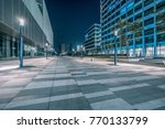 empty brick road nearby office... | Shutterstock . vector #770133799