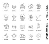 event and party line icons set...   Shutterstock .eps vector #770134333