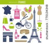 france sightseeing landmarks... | Shutterstock .eps vector #770134348