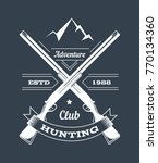 hunting club or hunt adventure... | Shutterstock .eps vector #770134360