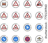 line vector icon set   sign... | Shutterstock .eps vector #770134960