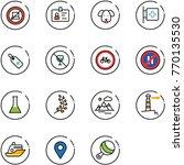 line vector icon set   no... | Shutterstock .eps vector #770135530