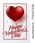 happy valentine's day... | Shutterstock .eps vector #770137228