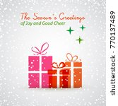 holiday greeting card | Shutterstock .eps vector #770137489