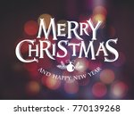 merry christmas vector text...   Shutterstock .eps vector #770139268