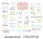 hand drawn cute spring kids... | Shutterstock .eps vector #770139718