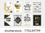 holidays cards and posters... | Shutterstock .eps vector #770139799