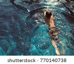 swim in the pool | Shutterstock . vector #770140738