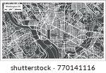 washington dc usa map in retro... | Shutterstock .eps vector #770141116