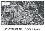 amsterdam holland map in retro... | Shutterstock .eps vector #770141128