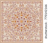 ethnic pattern or bandana print ... | Shutterstock .eps vector #770142166