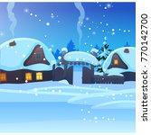 sketch for christmas poster... | Shutterstock .eps vector #770142700