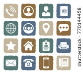 contact icons. grunge color... | Shutterstock .eps vector #770144458