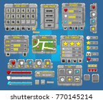 collection of game gui elements ...