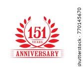 151 years anniversary logo... | Shutterstock .eps vector #770145670