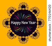 new year card in illustrator ... | Shutterstock .eps vector #770146420