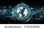 connections system on world... | Shutterstock . vector #770153098