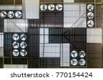 view of structure roof with fan ... | Shutterstock . vector #770154424