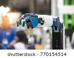 industry 4.0 robot concept .the ... | Shutterstock . vector #770154514