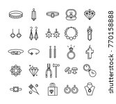 jewelry icons. jewelry shop... | Shutterstock .eps vector #770158888