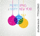 holiday greeting card | Shutterstock .eps vector #770162863