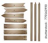 vector wooden planks isolated... | Shutterstock .eps vector #770162950