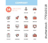 business concept  company  ... | Shutterstock .eps vector #770163118