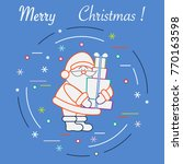 santa claus with presents. new... | Shutterstock .eps vector #770163598