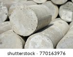 concrete cylinder and concrete... | Shutterstock . vector #770163976