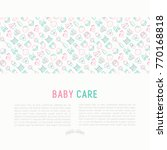baby care concept with thin...   Shutterstock .eps vector #770168818