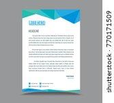letterhead template design  | Shutterstock .eps vector #770171509