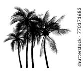 vector of palm tree silhouette... | Shutterstock .eps vector #770171683
