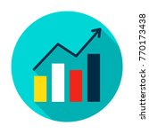 growth statistics circle icon.... | Shutterstock .eps vector #770173438
