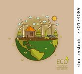 vector illustration of eco... | Shutterstock .eps vector #770174089