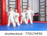 little children practicing... | Shutterstock . vector #770174950
