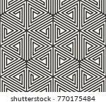 vector seamless lines pattern.... | Shutterstock .eps vector #770175484
