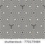vector seamless lines pattern.... | Shutterstock .eps vector #770175484