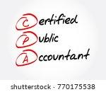 cpa   certified public... | Shutterstock .eps vector #770175538
