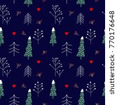 seamless vector pattern with... | Shutterstock .eps vector #770176648