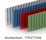 Metal Sheets Stack With Variou...