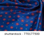 Texture Of The Silk Fabric With ...