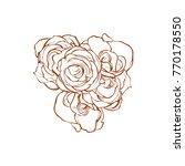 beautiful five   3   roses line ... | Shutterstock .eps vector #770178550