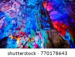 the reed flute cave  natural... | Shutterstock . vector #770178643